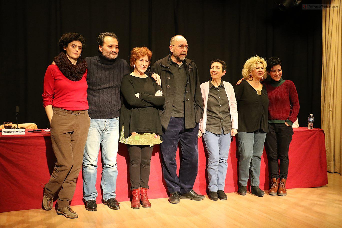 Patricia Pardo, Francisco Sanguino, Pilar Almería, Toni Picazo, Rosángeles Valls y Eva Zapico