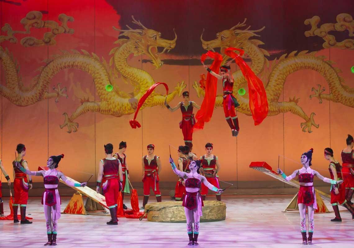 Gran circo acrobático de Shangai