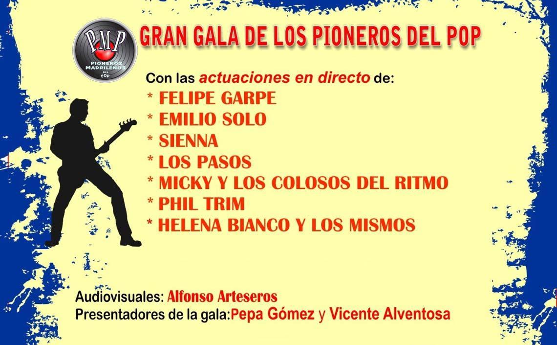 GRAN GALA DE LOS PIONEROS DEL POP